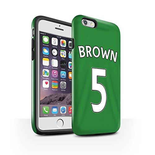 Offiziell Sunderland AFC Hülle / Glanz Harten Stoßfest Case für Apple iPhone 6S / M'Vila Muster / SAFC Trikot Away 15/16 Kollektion Brown