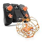 ILYO Mini-Drohne Mit Einer Kamera Vier-Achsen-Drohne Fixiert Hochgeschwindigkeits-Luft-Kamera-Handy 2.4 G Fernbedienung 360 Grad Rolle Kopflosen Modus,Orange
