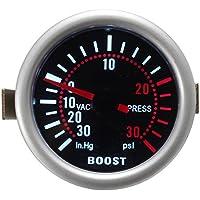 GOZAR 2 Pulgadas 52 Mm Universal LED Coche Turbo Aumentar Presión Medidor 30 Psi Medidor Ahumado