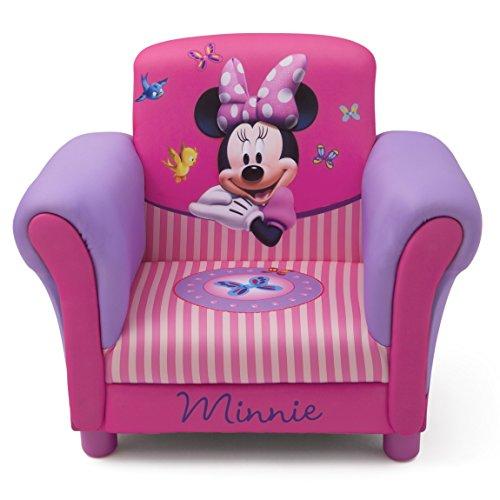 Minnie-möbel Mickey Und (Minnie Mouse Kindersessel mit Holzrahmen (Rosa))