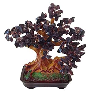 gmmh feng shui gl cksbaum 25 cm geldbaum bonsai pfennigbaum handarbeit stein lila amethyst. Black Bedroom Furniture Sets. Home Design Ideas