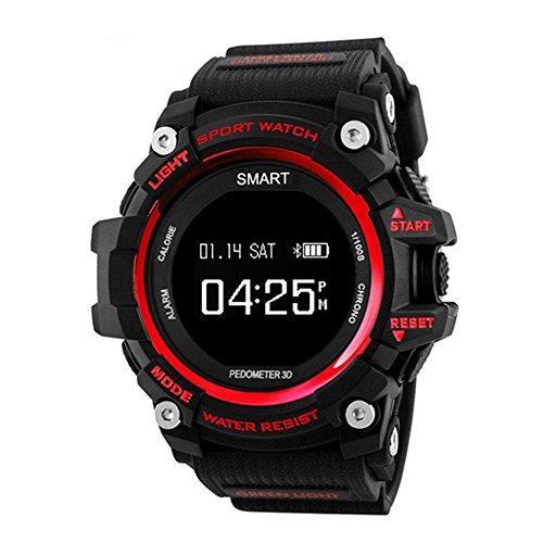 Sport Smartwatch, KOBWA IP68 Wasserfest Bluetooth Lauf-Uhr Schwimm-Tracker Telefon Schrittzähler Schlaf Monitor Walking Distance Smart Armband für IOS Android