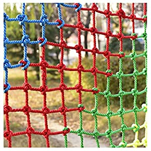 Children's Climbing Net, Color Rope Net, Fence Net, Pet Cat Stair Anti-fall Net, Garden Plant Protection Net, Wall Ceiling Amusement Park Decoration Net Size: 1×5M (Size : 3 * 7M)   9