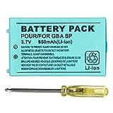OSTENT 850mAh Wiederaufladbare Lithium-ionen Akku + Tool Kit Pack Kompatibel für Nintendo Game Boy Advanced GBA SP Konsole