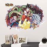Dragon Ball Super Saiyan Sticker Mural autocollants Chambre Enfant 50X70CM
