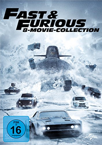 fast and the furious 7 dvd Fast & Furious - 8 Movie Collection [8 DVDs]