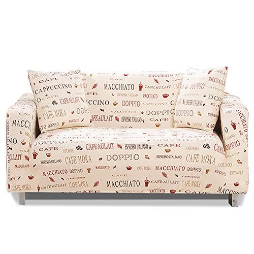 Hotniu copridivano elasticizzato, fodere copridivani universale, sofa mobili protettore copertura divano antiscivolo, ideale per poltrone, divani a 2/3/4 posti, floreale #28/2 posti