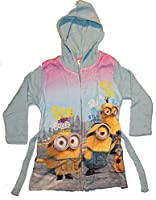 Universal Pictures Girl's Minions Love Dressing Gown, Blue, 6 Years
