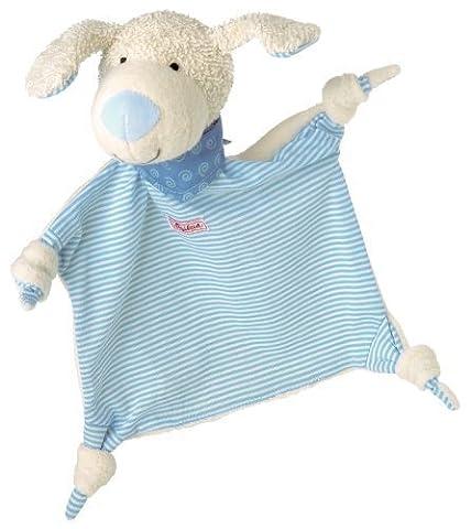 Sigikid Comforter Dog (White with Turquoise Stripes) by sigikid