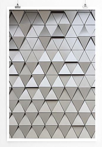 EAU ZONE Home Bild - Digitale Grafik - Abstraktes geometrisches Muster- Poster Fotodruck in höchster Qualität