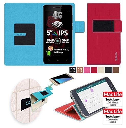 reboon Hülle für Allview X2 Soul Lite Tasche Cover Case Bumper | Rot | Testsieger