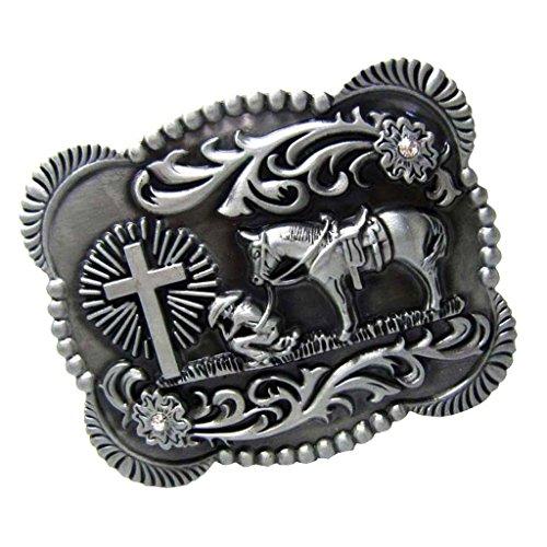 Cowboy Kostüm Muster - Sharplace 1 Stück Westlichen Cowboy Gürtelschnalle