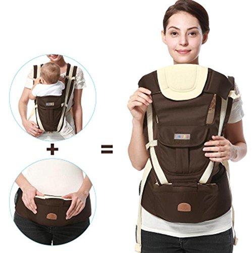 Huwai Babytrage für die Durchführung Ihres Babys bequem Kindertrage ergonomischen Mehrpositionen Tragetuch Passt die Größe des Kindes