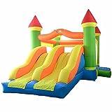 YARD Hüpfburg im Freien Spielen Spielzeug Springen Schlag-Haus-Dual-Slide mit Gebläse