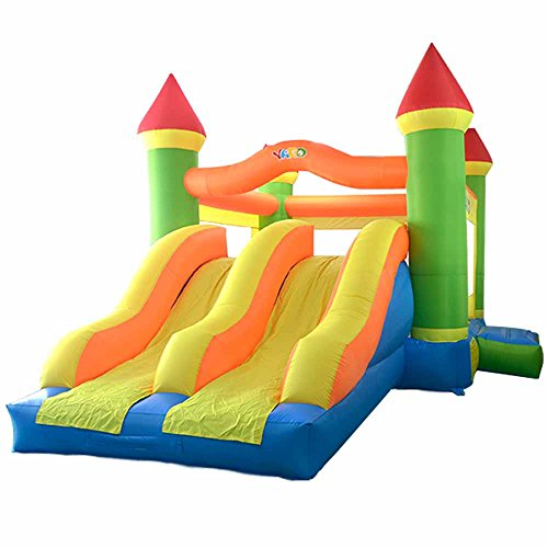 YARD Bouncy Castle Outdoor Playing Toys Jumping Bounce House Dual Slide with Blower