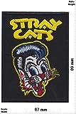 Parches - Stray Cats - Rockabilly Rebels - black- Oldschool - - Parche Termoadhesivos Bordado Apliques - Patch'
