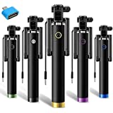 [Sponsored]SHOPEE BRANDED Selfie Stick Portable Black + OTG Adaptor Compatible For All Android Phones
