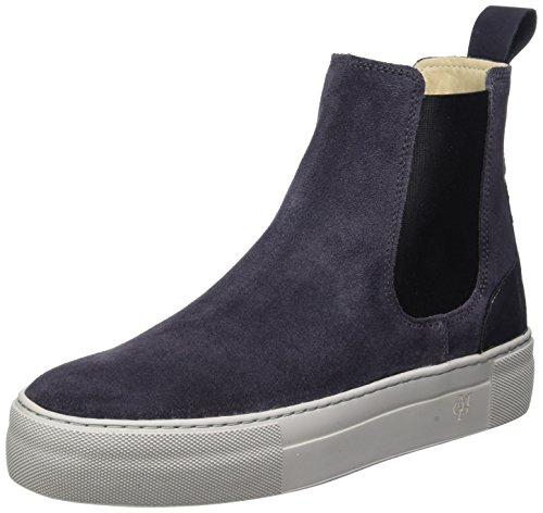 Marc O'Polo Damen Flat Heel Chelsea 70814195001309 Boots, Grau (Dark Grey), 41 EU (Stiefel Damen Heel Flat)