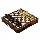 RoyaltyRoute Palm size magnetico scacchi pieghevole Board gioco di viaggio set dimensione 5 pollici-perfetto regalo di Natale per i bambini