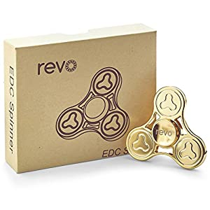 Revo Pro 18ct Gold Plated Fidget Hand Finger Spinner (From UK Seller)