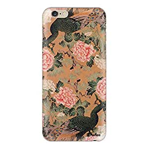 Hamee Designer Cover Thin Fit Crystal Clear Plastic Hard Back Case for iPhone 6 Plus / 6s Plus (Peacock Dance / Multicolour)