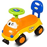 GoodLuck Baybee - Kids Ride On Push Car With Music Toy Car Children Rider & Small Toy Toddlers Baby Toys 1-2 Years | No Battery | Twist, Turn, Wiggle For Babies Endless Fun | Kids Suitable For Boys & Girls -(Yellow)