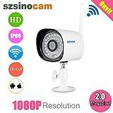 Szsinocam 1080P Wasserdichte Wireless 2.0 Megapixel WLAN CCTV WiFi IP-Kamera EU