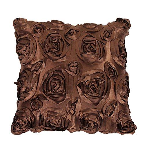40x 40cm 3d Rose Blume Quadratisch Überwurf Kissen Schutzhülle Sofa Auto Sitz Dekor