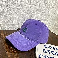 DRTWE Unisex para Gorra De Beisbol,Púrpura Carta Ajustable Pico Sombrero Verano Curvado Sombrero De Béisbol Gorra Al Aire Libre Deportes Clásicos Luz Y Cómodo