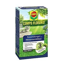 Compo Fertilisant pour Gazon 13426 Floranid, avec destructeur de Mousse, 12kg pour 400m²