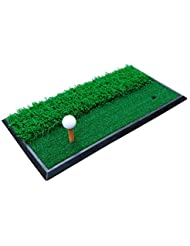 WENZHE Alfombra De Práctica Golf Putting Estera Swing Barras De Corte Lucha Contra Interior Afuera Suela De Goma 60 * 30 Cm