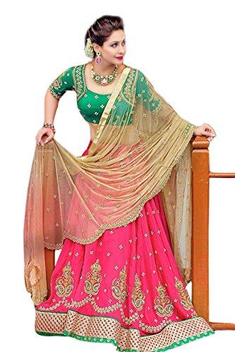 KAMELA SAREE Women\'s Bridal ghagra choli Heavy Embroidery Lehenga choli With Dupatta - Dress material Lehenga Free Size Festival