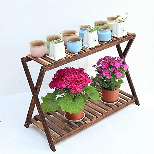 ff7144009912 Fu Man Li Trading Company Eclairier à fleurs en bois carbonisé à deux  couches et parquet