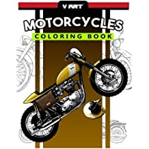Motorcycles Coloring Book: Pattern to Color for Bike Lover, Motorcycle Coloring for Adults