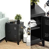 WarmCentre Small Storage Cabinet,Metal Floor Cabinet,Free Standing Storage Cupboard,Side Storage Organizer Cabinet,2 tier Storage Shelves for Home Office Study Bedroom Living room(Black,30 ×40×57cm)