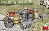 MiniArt 35597 German 200L Fuel Drum Set WW2 Modellbauzubehör, grau