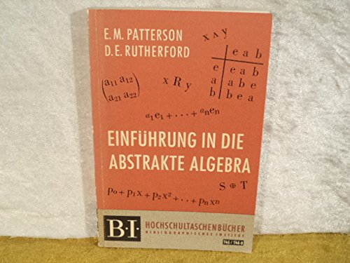 Einführung in die abstrakte Algebra.