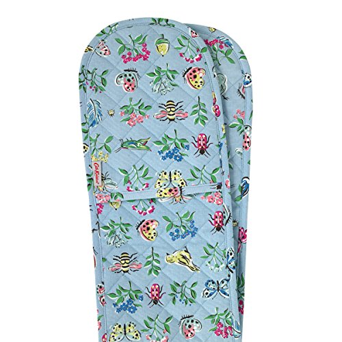 Cath Kidston Warm Grey (Blue) Collectors Print Double Oven Glove