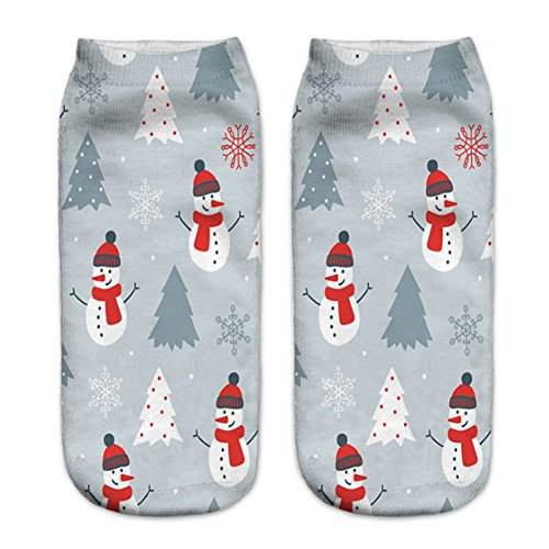 O-C 3D Print Snowman Pattern Unisex Stocking Polyester Expressions Sock (Boots Ballet Knee)