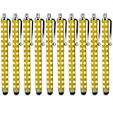 ONX3 ® Blackberry Z3 Polka capacitiva di alluminio dello stilo della penna di tocco (10 pezzi) (Giallo)