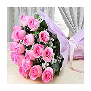 Splendid Pink Roses Bouquet - Same Day Delivery