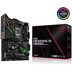 ASUS ROG MAXIMUS XI HERO (WI-FI) - carte mère GAMING (Intel Z390 LGA 1151 ATX DDR4, Aura Sync)