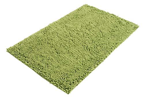PANA Chenille Badematte in versch. Farben | Badteppich aus weichen Fasern - rutschfest & waschbar | Duschvorleger 60 x 100 cm