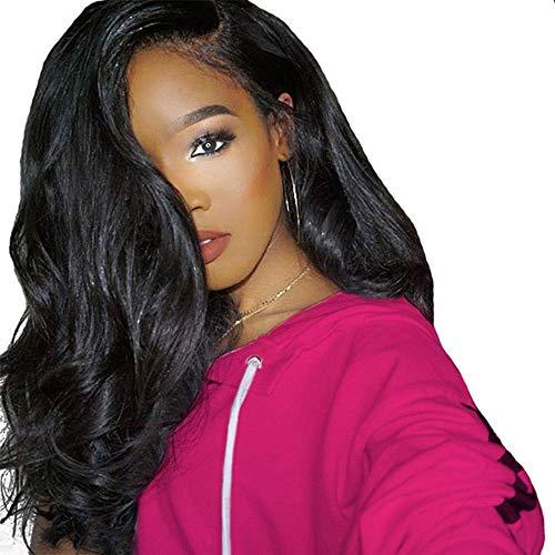 Lange lockige Haare schwarz synthetische natürliche Flauschige hitzebeständige Locken Damen Cosplay ()