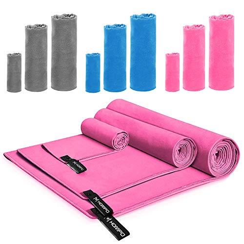 Hompo asciugamano sportivo in microfibra - asciugatura rapida, leggero, assorbente, morbido, grante - perfettoper yoga, fitness, spiaggia, palestra 80 * 40cm