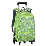ZEVONDA Boys Girls Trolley Backpack - Rolling Wheeled Removable Travelling School Bag