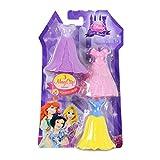 Disney Princess Little Kingdom Royal Fashions - 3 MagiClip Dresses - Snow White by Mattel