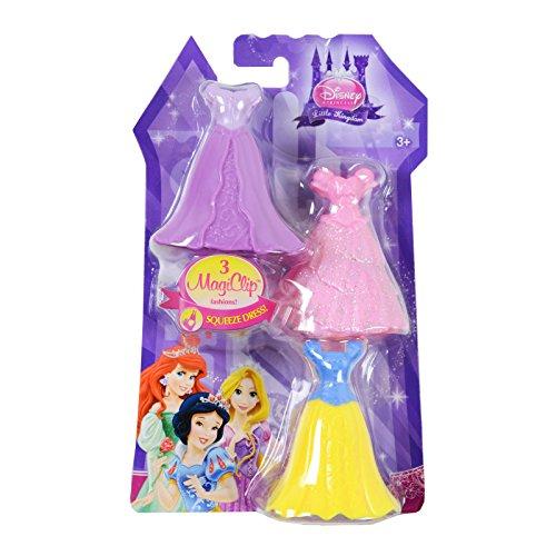Clip Zubehör Set mit 3 Kleider für Rapunzel, Arielle und Schneewittchen ()