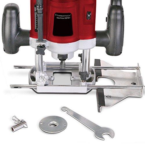 Oberfräse Fräsmaschine 1200W inklusive Fräser- & und Werkzeugset und Koffer TÜV-Rheinland GS geprüft - 5
