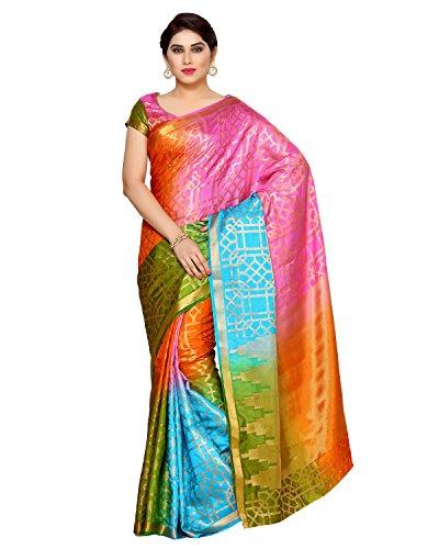 Mimosa By Kupinda Women's Art Silk Saree Kanjivaram Style (Latest Designer Sarees /Party wear sarees /New collection sarees) (4127-294-4D-AND-GAJJ) Color